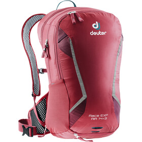 Deuter Race EXP Air Mochila 14+3l, cranberry/maron